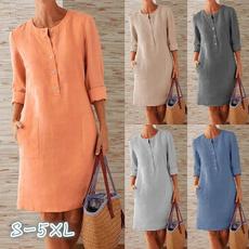 Plus Size, Necks, Sleeve, Women Blouse