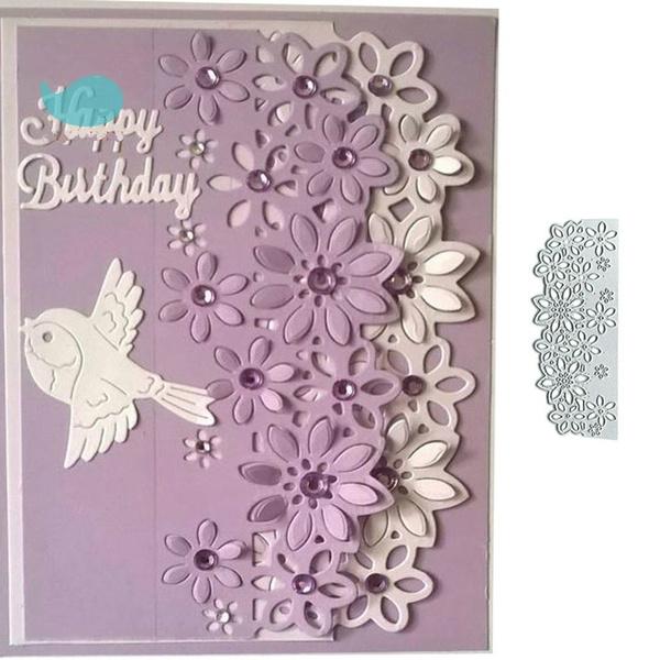 DIY Lace Flowers Metal Cutting Dies Stencil  Scrapbooking Album Gift Card Decor