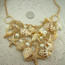shells, Jewelry, starfish, conch