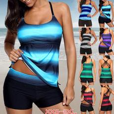 Summer, Plus Size, bikini set, two piece bathing suit