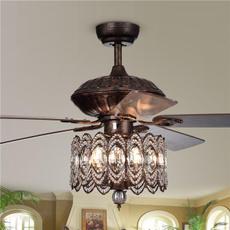 Copper, Remote, lights, ceilingfan