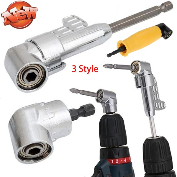 "105 Degrees 1//4/"" Extension Hex Drill Bit Screwdriver Socket Holder Adaptor Tools"