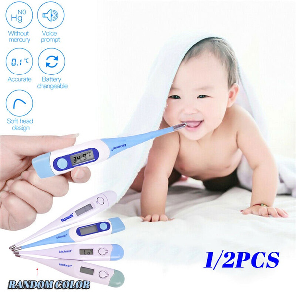 Child Baby Medical Digital LCD Adult Underarm Oral Body Fever Alarm Thermometer