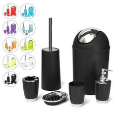 bathroomorganizer, Baño, wastebin, toiletbrush