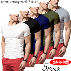 summer t-shirts, solidcolorshirtsformen, Slim T-shirt, roundnecktshirt
