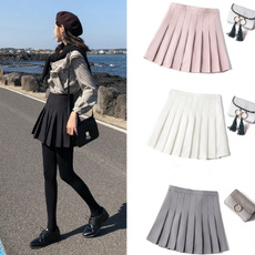 high waist, Faldas, Pleated, high waist skirt