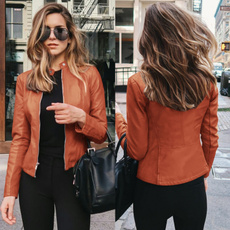 Moda, Blazer, leather, Coat