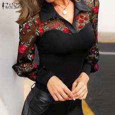 blouse, Plus Size, lacefloral, Women Blouse