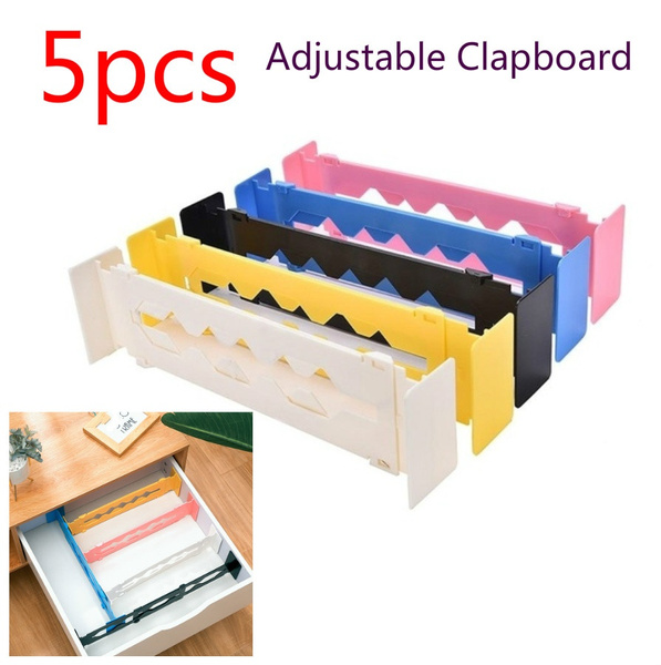 Plastic Adjustable Clapboard Drawer Divider Partition Storage Organiser Wardrobe