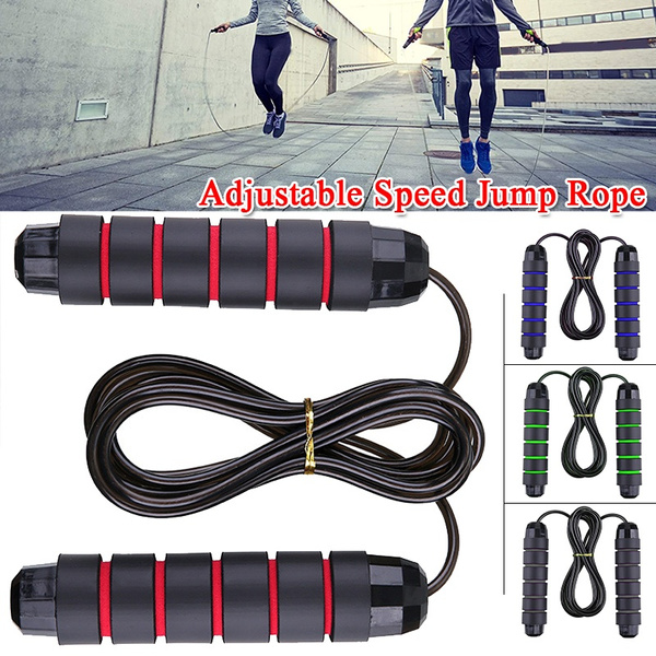 Weighted Skipping Rope Steel Wire Adjustable Speed Jump Rope Workout Exercise