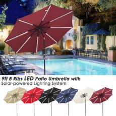 Patio, Outdoor, led, patioumbrella9ft