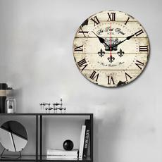 roundwallclock, Home Decor, Clock, Wooden