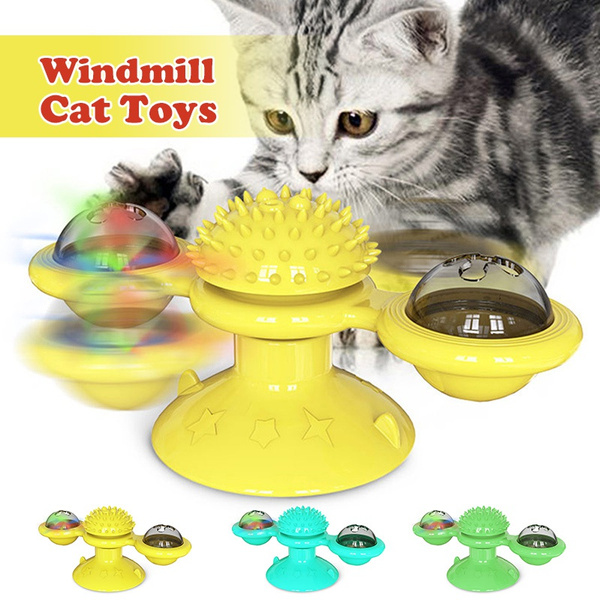 Windmill Cat Toy Turntable Funny