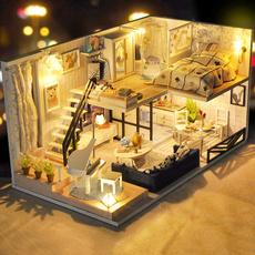 miniaturehousekit, led, parentchildtoysforteenager, giftideaforcraftlover
