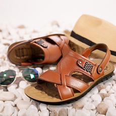 Sandals & Flip Flops, mensleatherslipper, Outdoor, summersandalsformen