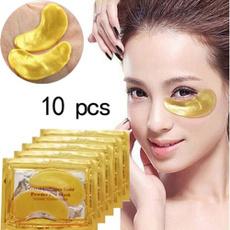 eye, Joyería, gold, collagen