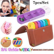 portablepillcase, case, pillbox, weeklymedicinecontainer