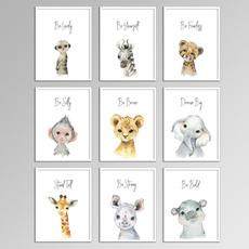 kidsroomwallpainting, art, Gifts, animal print