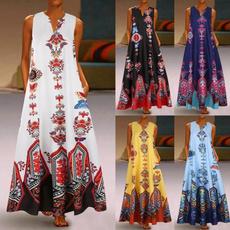 Plus Size, long dress, Dress, summer dress