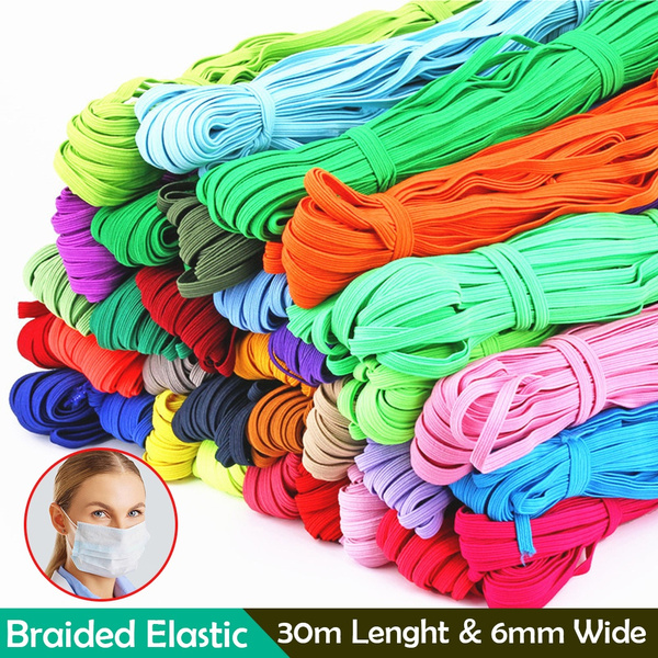 36 Colors Mask Rope Elastic Braiding Cords Stretchy Elastic Bands Mask Rope For Diy Sewing Crafting Mask Making Wish