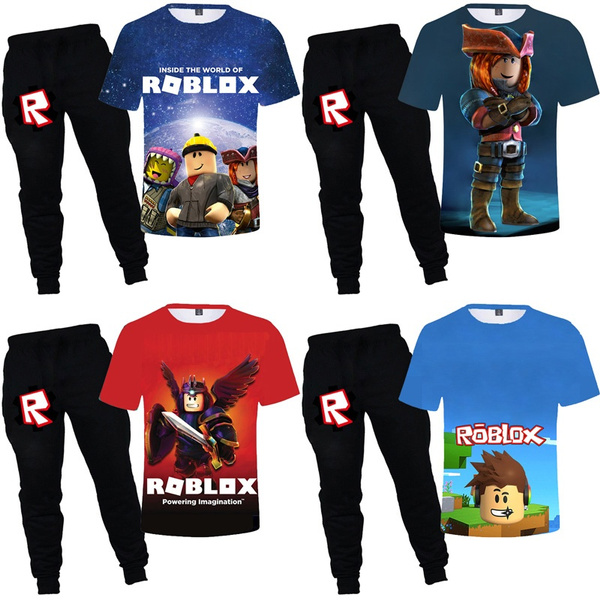2020 Summer High Quality Roblox Printed 3d T Shirt And Harem Pants