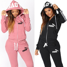 2pieceset, hooded, pants, womentracksuitset