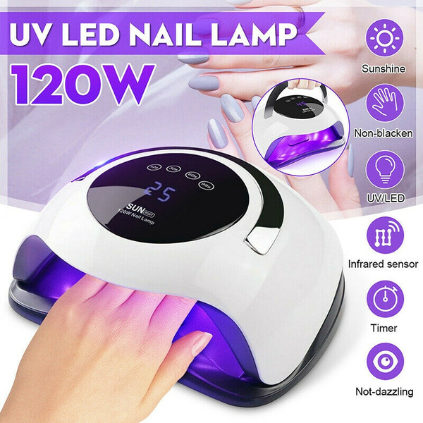 120w 36w Nail Dryer Drying Lamp Uv 36 Led Light Auto Dual Light