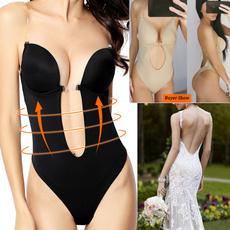 Deep V-neck Dress, Thong, Dress, bodicebrief