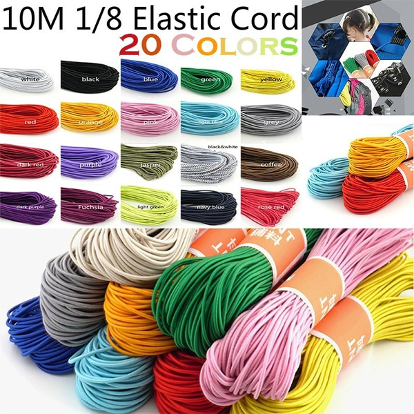 10m Stretchy Cord 1 8 Elastic Band Face Mask Making Round Ribbon