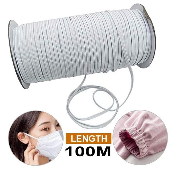 1 8 Inch Elastic Cord Heavy Stretch String Braided Elastic Band