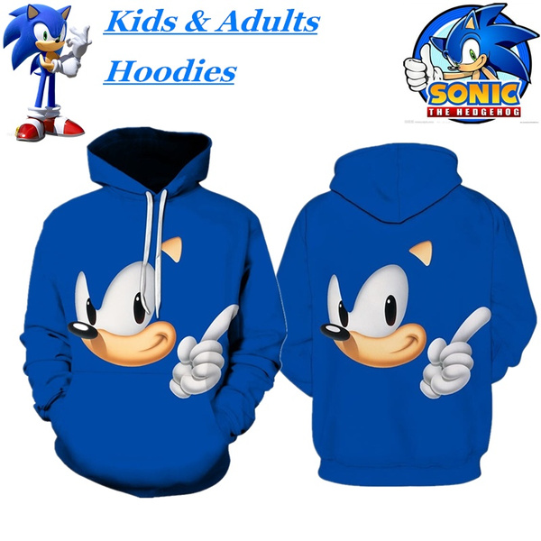Hot Sale Cartoon Sonic The Hedgehog 3d Printed Hoodies Children S Sweaters Men Women Couple Casual Cartoon Sweatshirt Wish