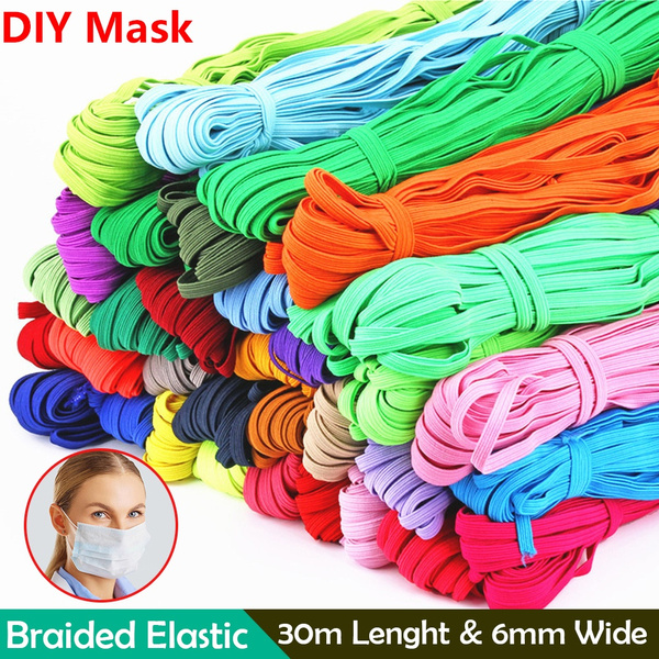 6mm Elastic Band Sewing Cords Stretchy Elastic Bands Mask Rope Diy