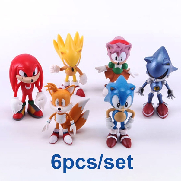 6 Pcs Set Sonic The Hedgehog Action Figure Amy Tails Mephiles Knuckles 6cm 2 4in Pvc Figure Wish