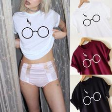 blouse, glassestshirt, Shorts, Shirt