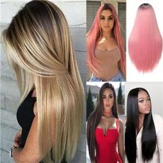 Black wig, wig, Straight Hair, womenhairpiece