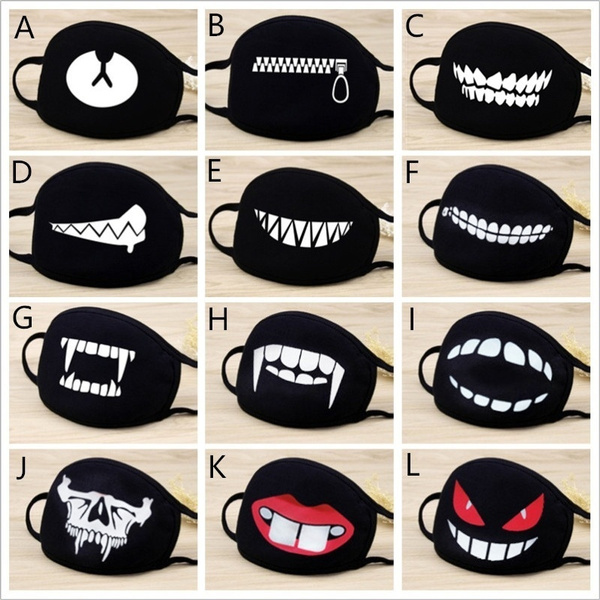 cute, Fashion, blackmask, mouthmuffle