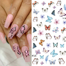 nail decoration, butterfly, nail stickers, Flowers