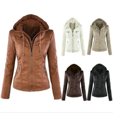 Plus Size, Outerwear, leather, leather jacket