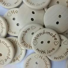 Craft, woodbutton, Decor, Love