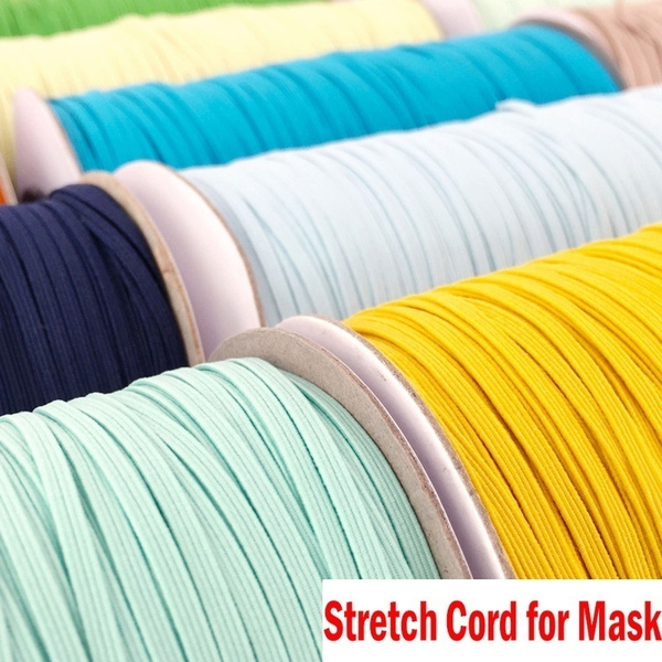 3mm Flat Elastic Band Stretch Cord For Face Mouth Mask Costume