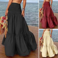Summer, long skirt, summer skirt, jupelongue