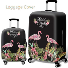 luggageampbag, flamingo, suitcasecover, Waterproof