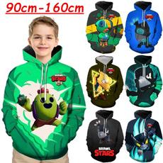 kids, 3D hoodies, Fashion, gamebrawlstar