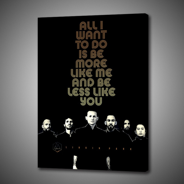 1p Wall Decoration Print On Canvas Art Creative Poster Home Decoration Painting Music Rapper Linkin Park Wish