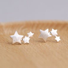 Sterling, Star, Jewelry, women's earrings silver