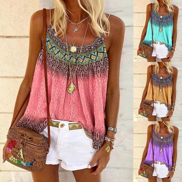 suspenders, Summer, Plus Size, Tank