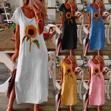 Summer, Plus Size, long dress, Vestidos