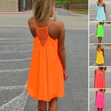 Mini, womens dresses, Summer, sleevele