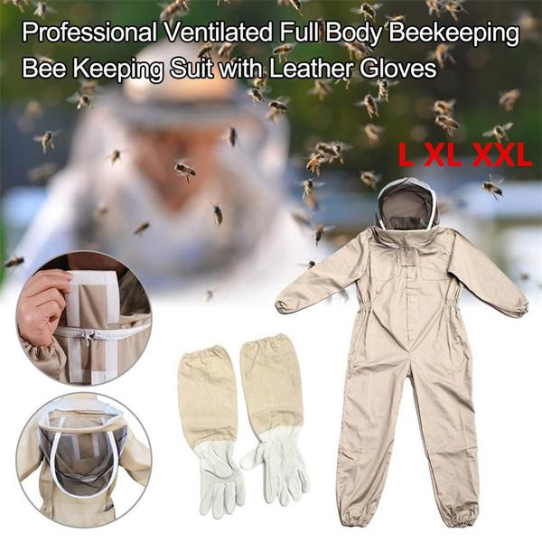 Bee Keeping Full Body Beekeeper Suit Beekeeping Suit Hat Size : XL Professional Beekeeping Protective Equipment