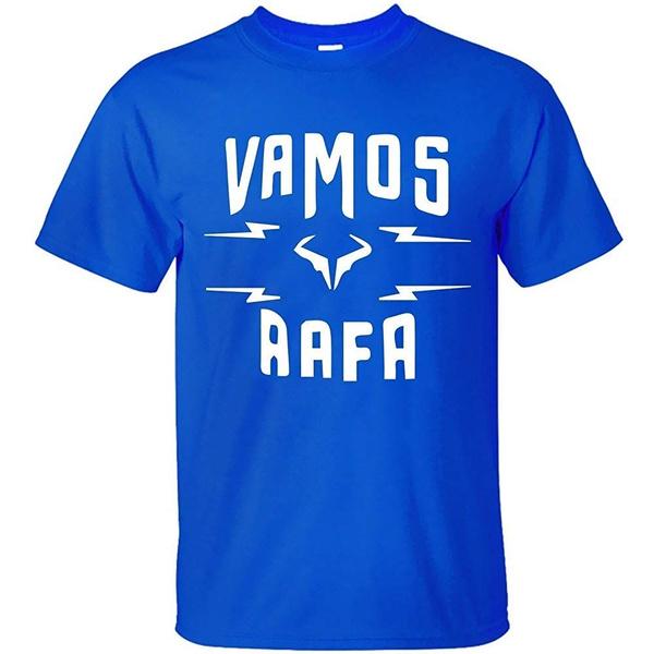 Dfgrghed Men S Rafael Nadal Rafa Vamos Logo T Shirt Wish